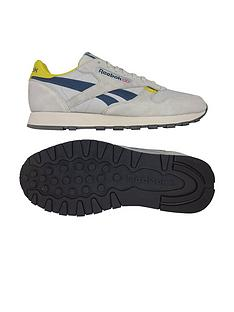 42c176429e1cf Reebok Classic Leather MU - Grey Navy Yellow