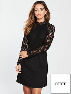 v-by-very-petite-lace-top-ponte-skater-dress-blacknbsp
