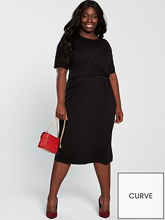 v-by-very-curve-twist-front-midi-dress-black