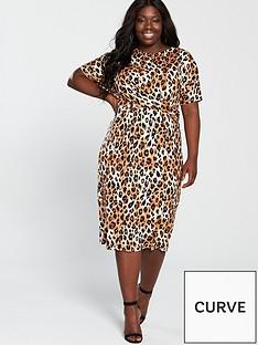 v-by-very-curve-twist-front-midi-dress-animal-print