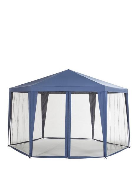 hexagon-showerproof-gazebo-with-mosquito-net
