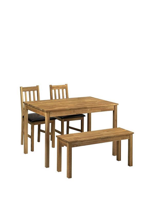 Julian Bowen Coxmoor 118 Cm Solid Oak Dining Table 2 Chairs Bench Littlewoodsireland Ie