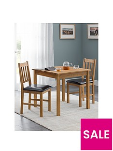 julian-bowen-coxmoor-75-x-75-cmnbspsquare-solid-oak-dining-table-2-chairs
