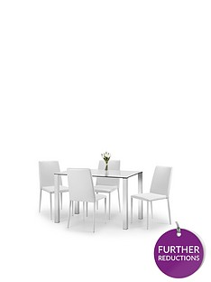 julian-bowen-enzo-120-cm-glass-and-chrome-dining-table-4-faux-leather-chairs-white