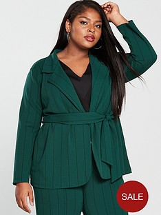 girls-on-film-curve-stripe-blazer-with-tie-waist-emerald-green