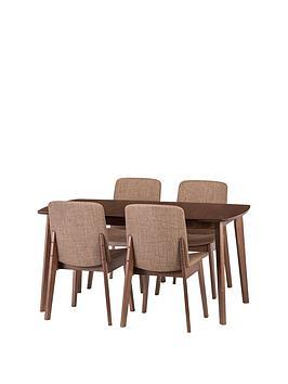 julian-bowen-kensingtonnbsp150-194-cm-solid-wood-extending-dining-table-4-chairs