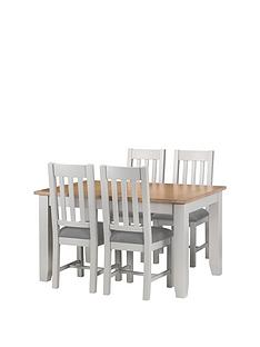 julian-bowen-richmond-140-180-cm-extending-solid-wood-and-veneer-dining-tablenbsp-4-chairs