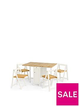 julian-bowen-savoy-120-cm-space-saver-dining-table-4-chairs