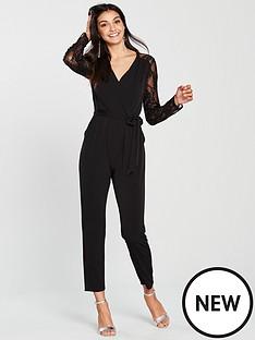 wallis-sequin-lace-jumpsuit-black