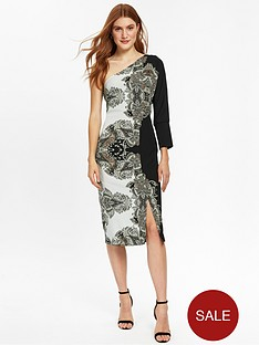 wallis-placed-paisley-one-shoulder-dress