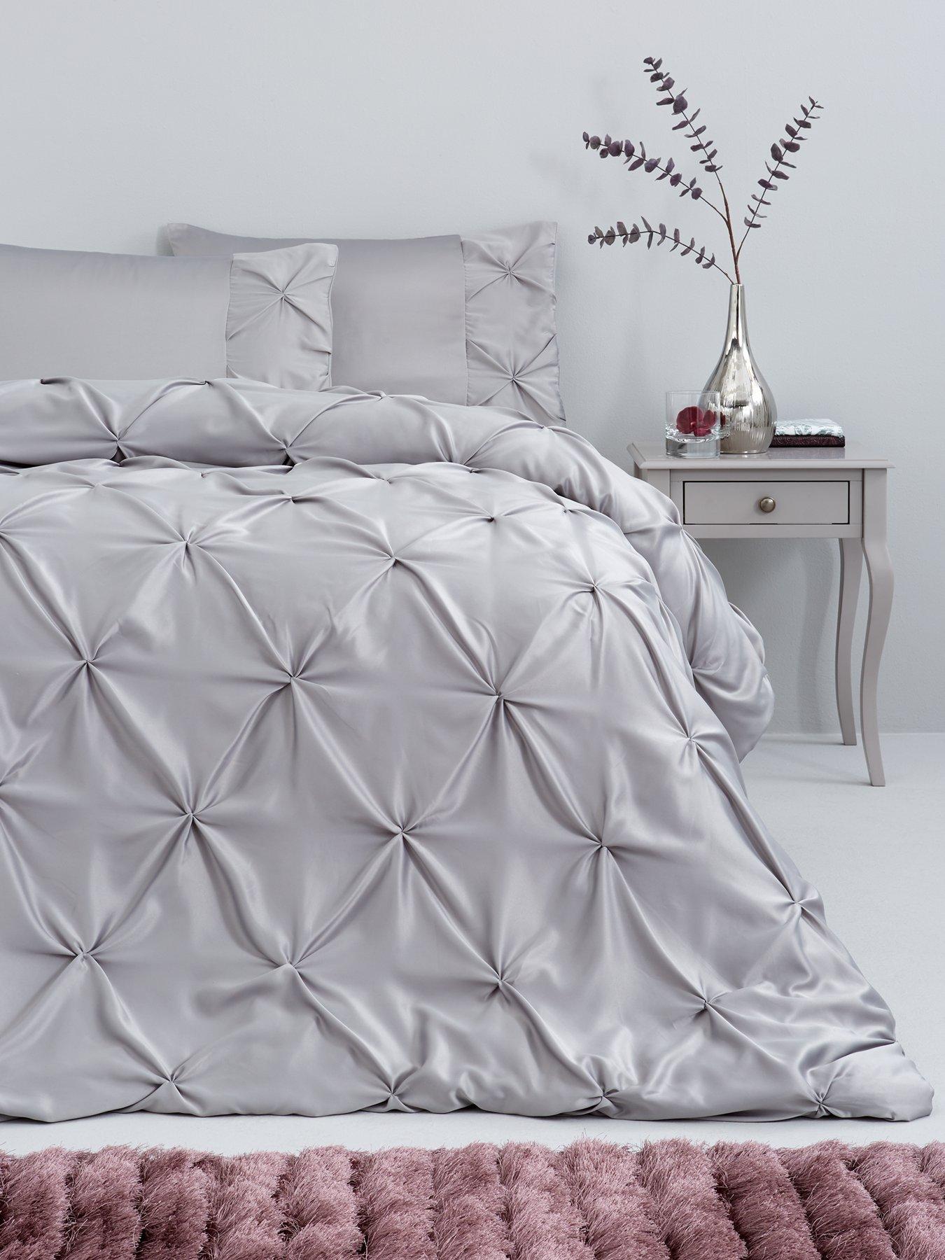 Glamorous Sequin Fancy Designer panel Duvet Quilt Cover Luxury Bedding Set