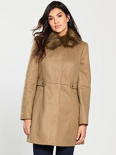 oasis-oasis-holly-princess-faux-fur-collar-coat