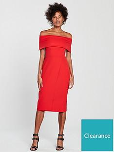 1069ca4a67 Oasis Bardot Midi Dress - Red
