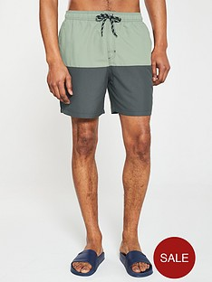 v-by-very-colour-block-longer-length-swim-short-khakinavy