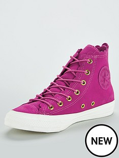 cfb0bb0e32dbe Converse Chuck Taylor All Star Suede Hi - Pink White