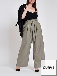 ri-plus-wide-leg-check-trousers-brown