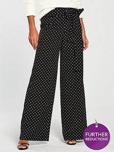 v-by-very-polka-dot-tie-side-trouser-blackwhite