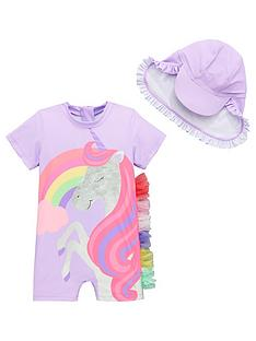 mini-v-by-very-girls-unicorn-magic-frill-sun-safe-amp-hat-lilac