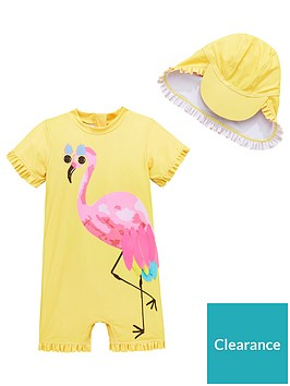 mini-v-by-very-girls-flamingo-shimmer-sunsafe-amp-hat-yellow