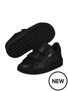 Puma Basket Classic LFS 2 straps Infant Trainers - Black ... 149b70fcc