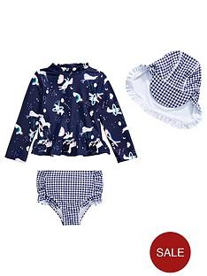 mini-v-by-very-girls-unicorn-and-gingham-3-piece-swim-set-navy
