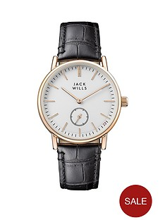 jack-wills-jack-wills-white-and-gold-detail-multi-dial-black-leather-strap-ladies-watch