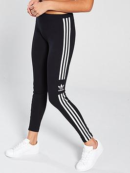 adidas-originals-3-stripe-trefoil-leggingsnbsp--black