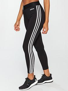 46180302fd400 adidas Essentials 3 Stripe Tight - Black