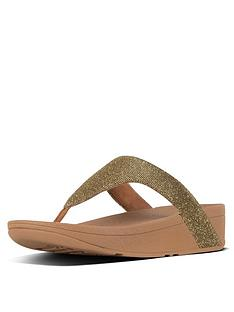 ef8a37178 FitFlop Lottie Glitzy Toe Thong Platform Flip Flop Shoes - Gold