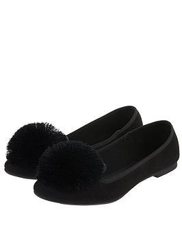2919c0d3818 Accessorize Pom Pom Slipper Shoe - Black