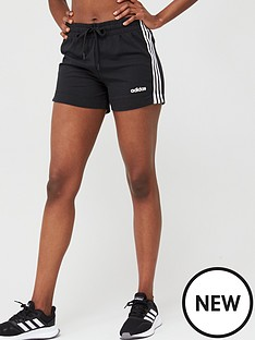adidas-essentials-3-stripe-short-black