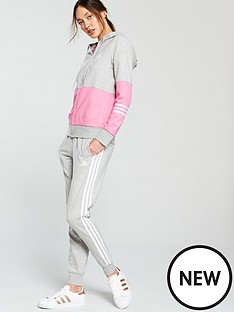 b68327b06a adidas Cotton Energize Tracksuit - Grey Pink