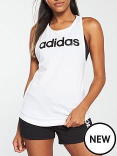 adidas-linear-loose-tank-whitenbsp