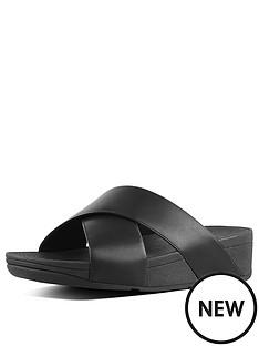 fitflop-lulu-cross-back-leather-flat-sandal-shoes-black