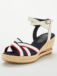 d9ca222ecd07fe Tommy Hilfiger Tommy Hilfiger Iconic Elba Corporate Ribbon Wedge Sandal