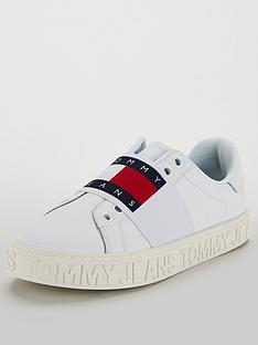 e2c16e9a00c0ea Tommy Hilfiger Slip On Logo Cool Trainers - White