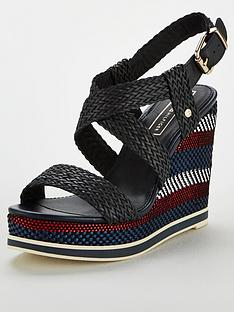 tommy-hilfiger-raffia-wedge-sandals-midnight