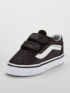 f43fb87dc2 Vans Glitter Old Skool Infant Trainers - Black White