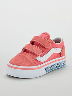 1fd6313ed63650 Vans Vans Old Skool Velcro Unicorn Infant Trainer