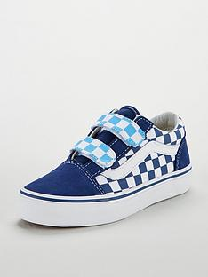 3c58eb3f169c08 Vans Vans Checkerboard Old Skool Velcro Junior Trainer