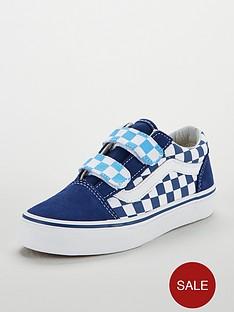 vans-vans-checkerboard-old-skool-velcro-junior-trainer