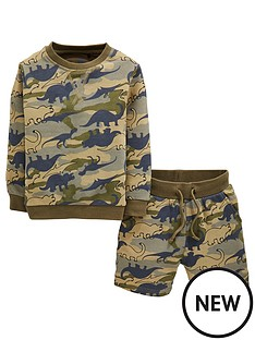 mini-v-by-very-boys-2-piece-sweat-top-amp-shorts-dino-camo-set-khaki