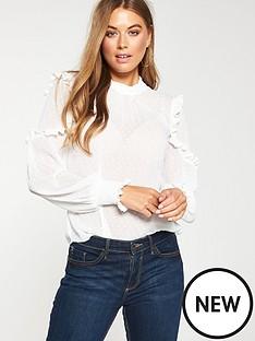 v-by-very-ruffle-dobby-blouse-white