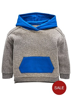 outlet store 50dbe 200f2 Mini V by Very Boys Awesome Contrast Hood Overhead Hoodie - Grey