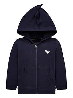 v-by-very-dinosaur-spike-hood-zip-through-hoodie-navy