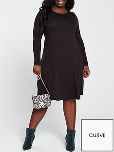 v-by-very-curve-jersey-swing-dress