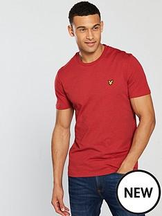 lyle-scott-marl-t-shirt-dark-red-marl