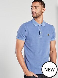 lyle-scott-washed-polo-shirt-cornflower-blue