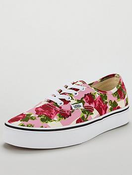 Vans Floral Authentic - Pink White  b02e40e4bb