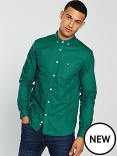lyle-scott-oxford-shirt-alpine-green